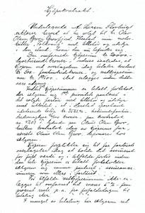 Kjøpekontrakt fra 1917, side 1