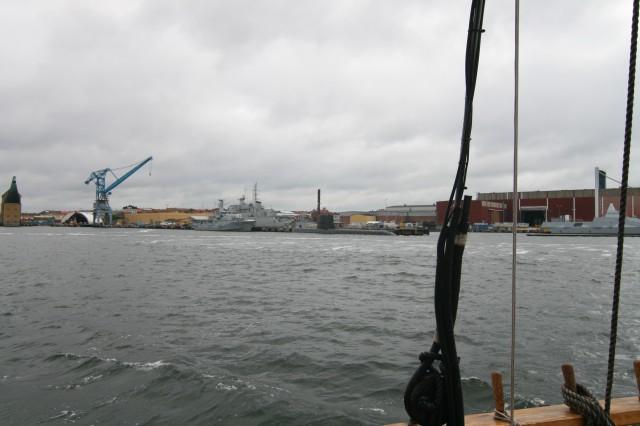 Her ligger marinebassen og et stort forsvarsmuseum i Karlskrona.
