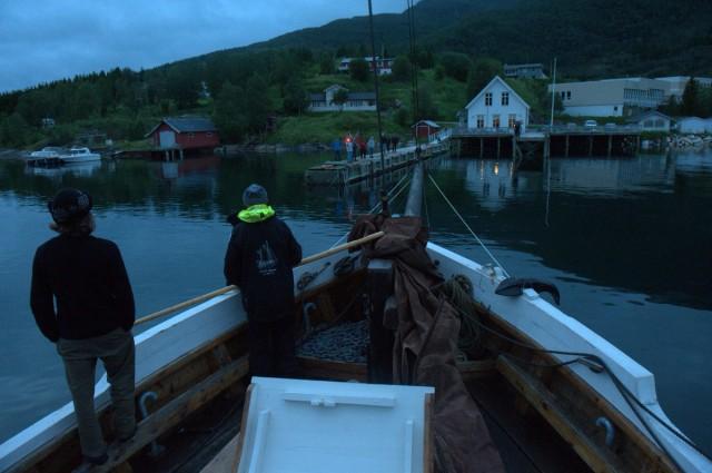 SÃ¥ var vi fremme ved kaia ved Huset i Havet den 31.07. 2012 kl 23.46